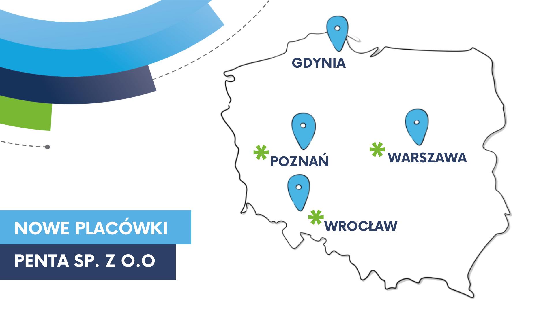 Mapa z nowymi oddziałami Penta