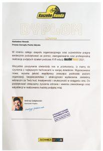 Kaszebe Runda 2021 - Dyplom